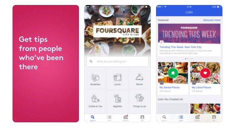 Free Travel Apps Foursquare