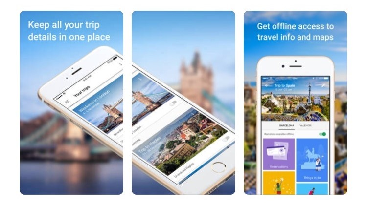 Free Travel Apps google trips to keep all your travel documents and itinerary