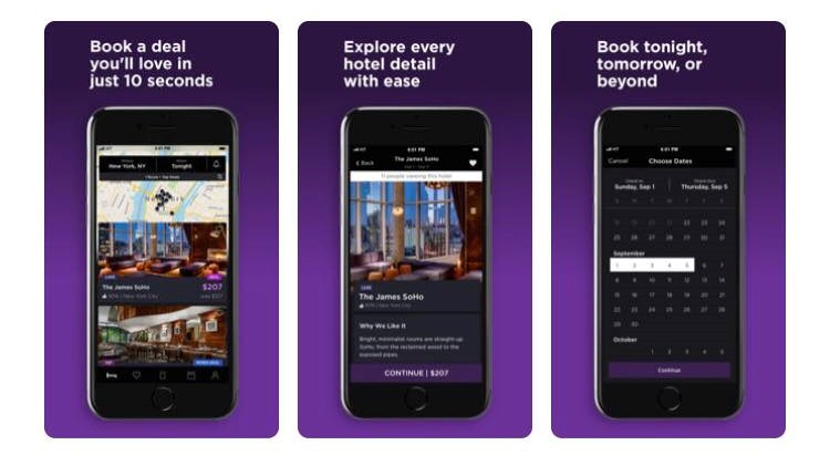Free Travel Apps book a hotel last minute