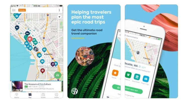 Free Travel Apps roadtrippers