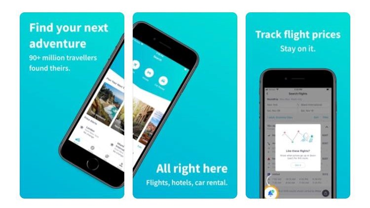 Free Travel Apps SkyscannerApp, book cheap flights, cars and hotels.