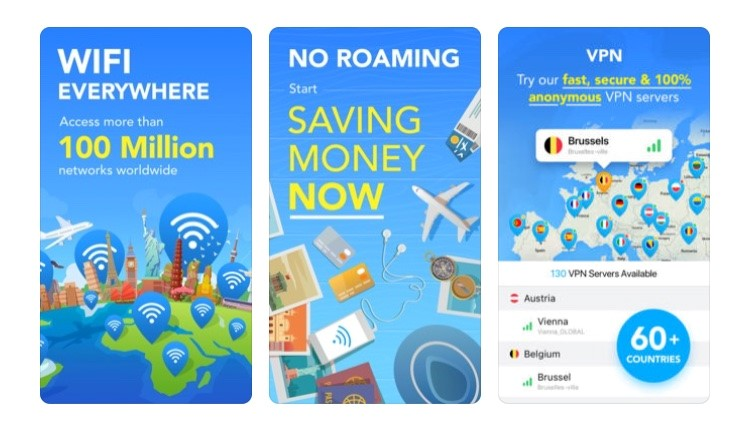 Free Travel Apps for wifi