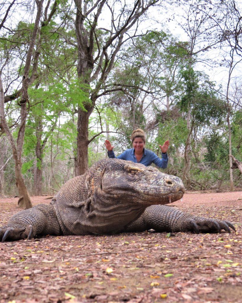 Me with Komodo dragon